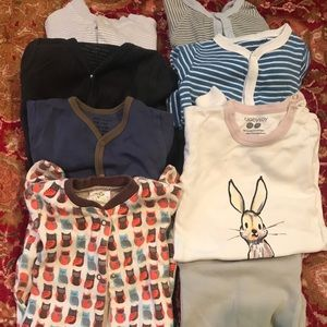 Other - Set of 8 Designer and Organic baby boy onesies 0-3